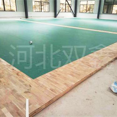 运动木地板+pvc地板=优质羽毛球场馆