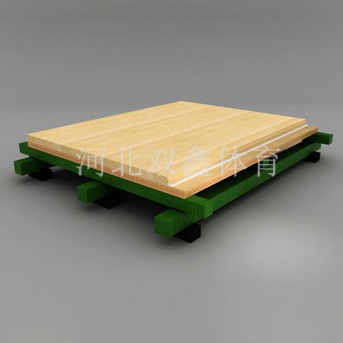 双龙骨比赛型体育地板